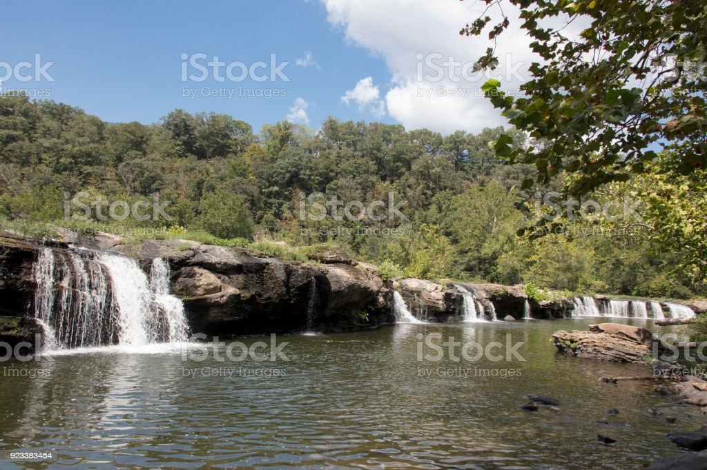 Sandstone Falls on the New River Sandstone West Virginia stock photo