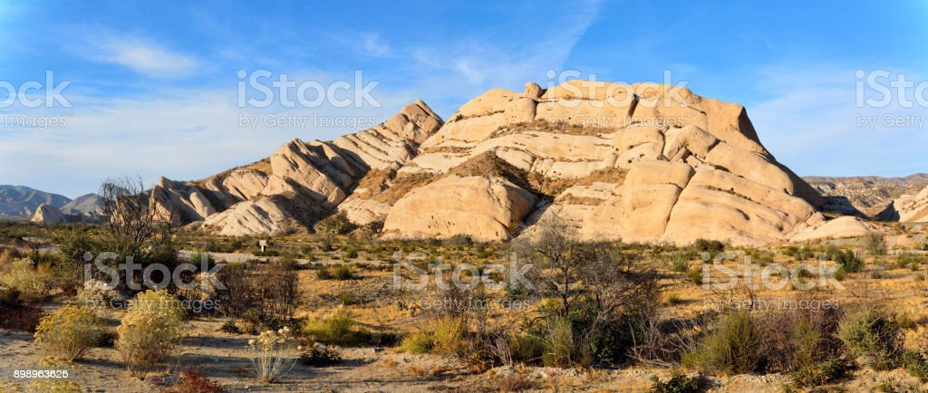 Sandstone formation of Mormon Rocks near San Bernardino in California, USA. stock photo