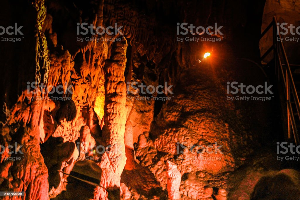 Sandstone formation within Mammoth Caves stock photo