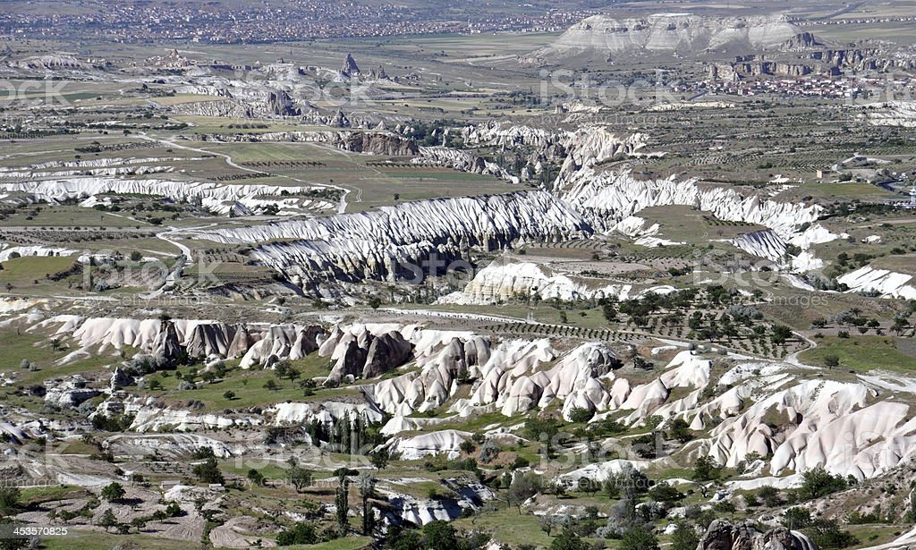 Sandstone formations in Cappadocia, Turkey royalty-free stock photo