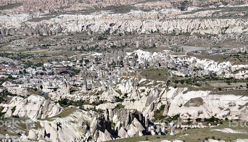 Sandstone formations in Cappadocia, Turkey royalty-free stock photo
