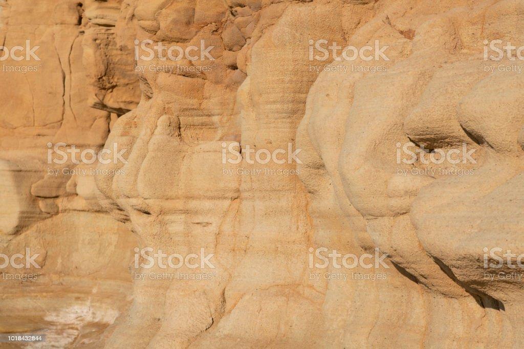 Sandstone formations in golden summer morning light stock photo