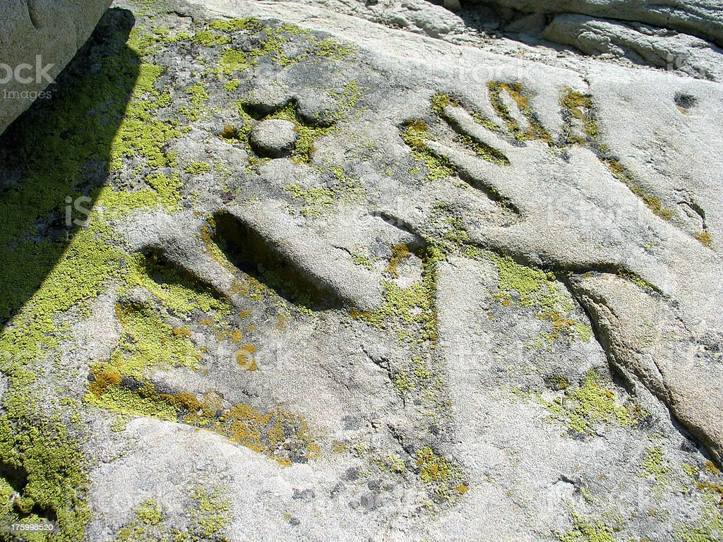 Sandstone Hands royalty-free stock photo