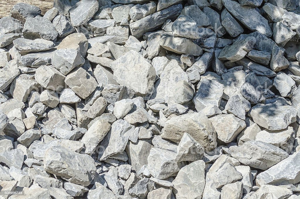 Sandstone, natural stone, quarry stone warehouse space stock photo