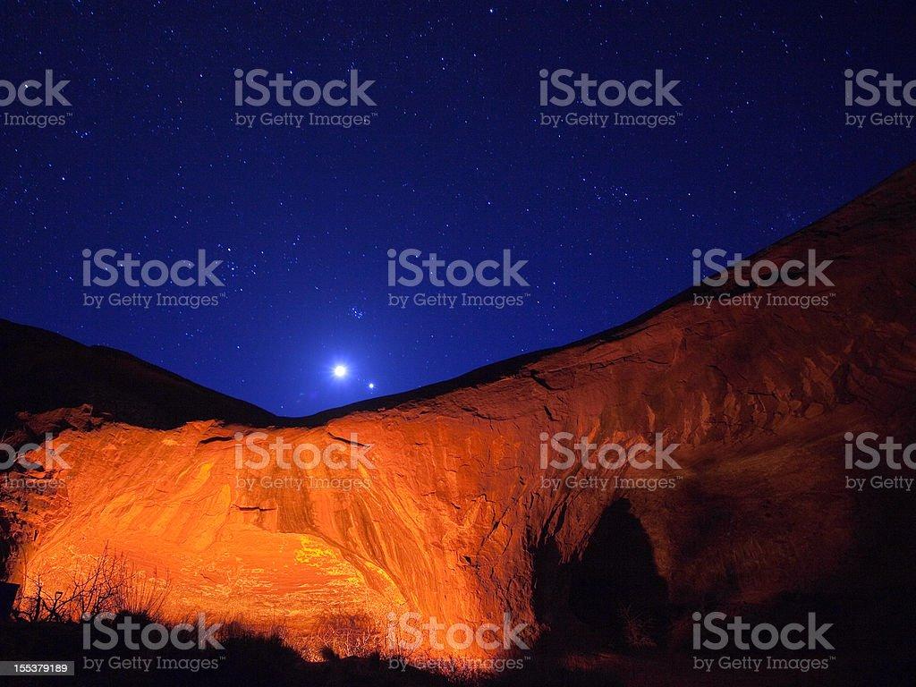sandstone night sky royalty-free stock photo
