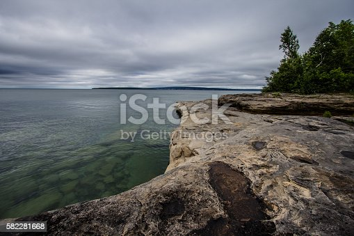 627263082 istock photo Sandstone Outcropping On Lake Superior Coast 582281668