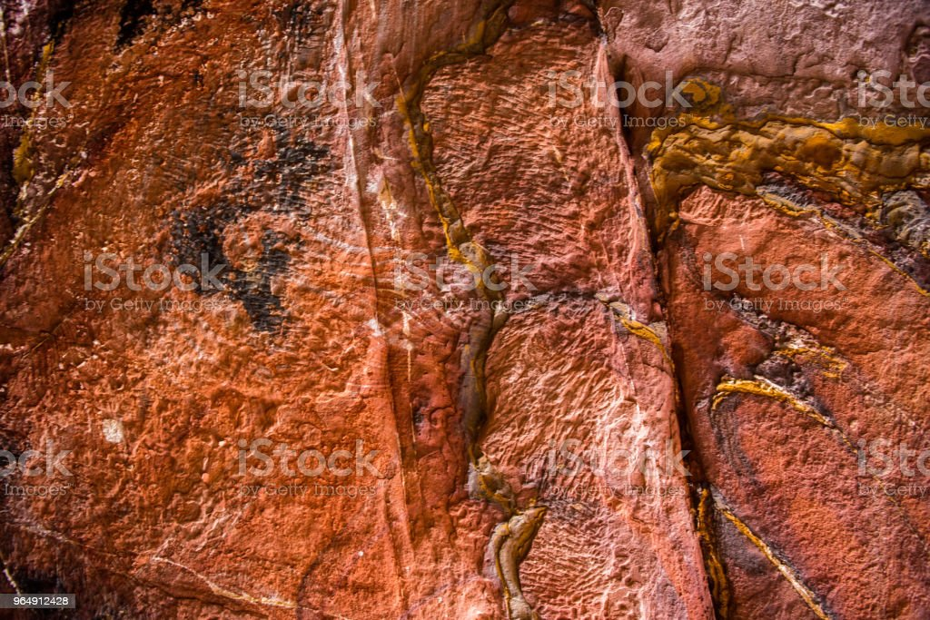 Sandstone pattern, geological texture in Petra royalty-free stock photo