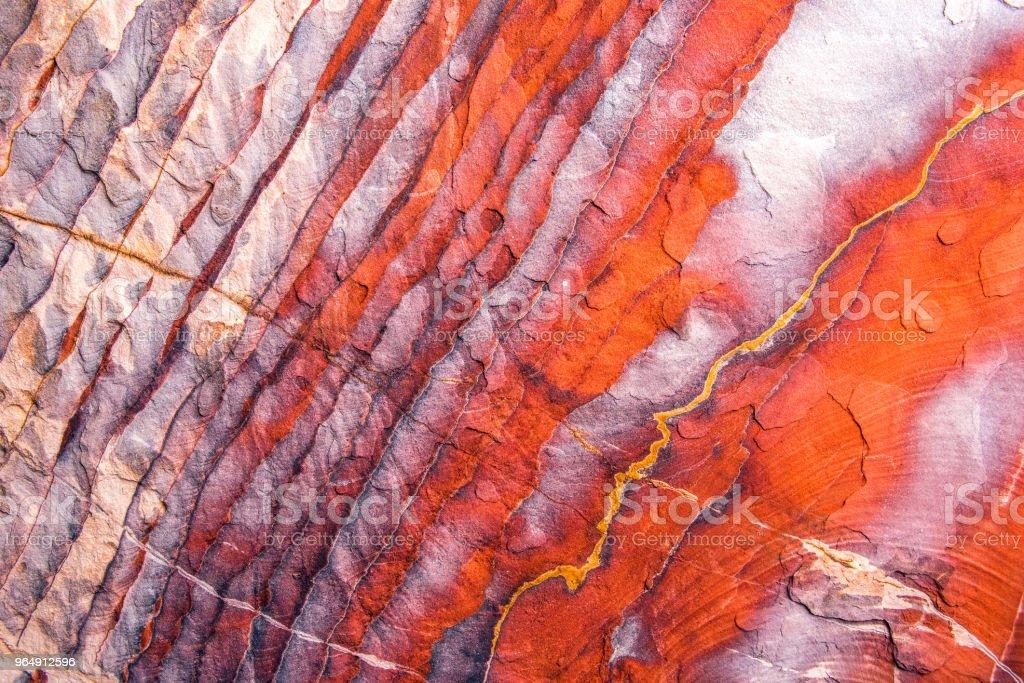 佩特拉砂岩形態、地質構造特徵 - 免版稅具有特定質地圖庫照片