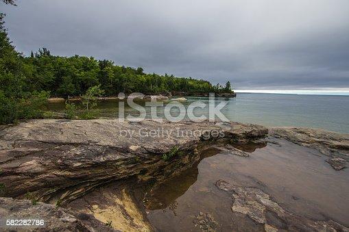 627263082 istock photo Sandstone Peninsula On The Shores Of Lake Superior 582282786