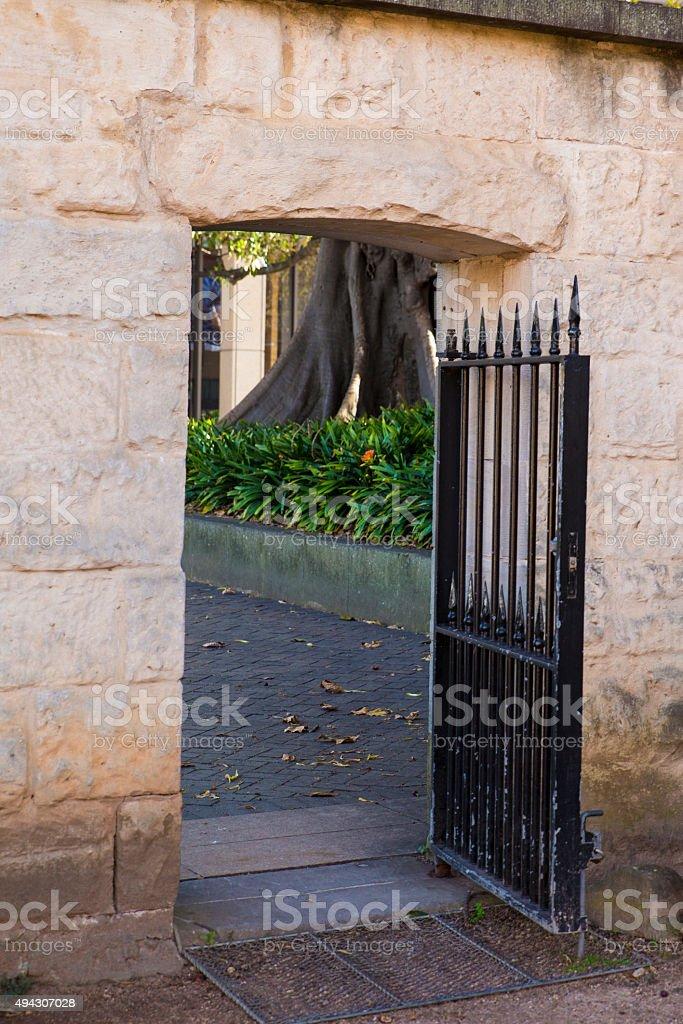 Sandstone Portal stock photo