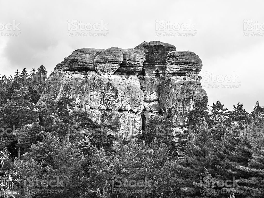 Sandstone rock formations stock photo