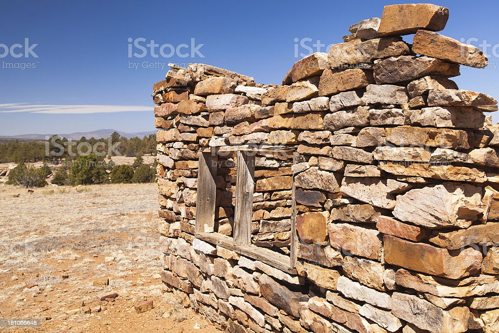 Sandstone rock house ruins royalty-free stock photo