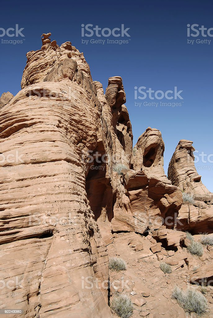 Sandstone Sentinels stock photo