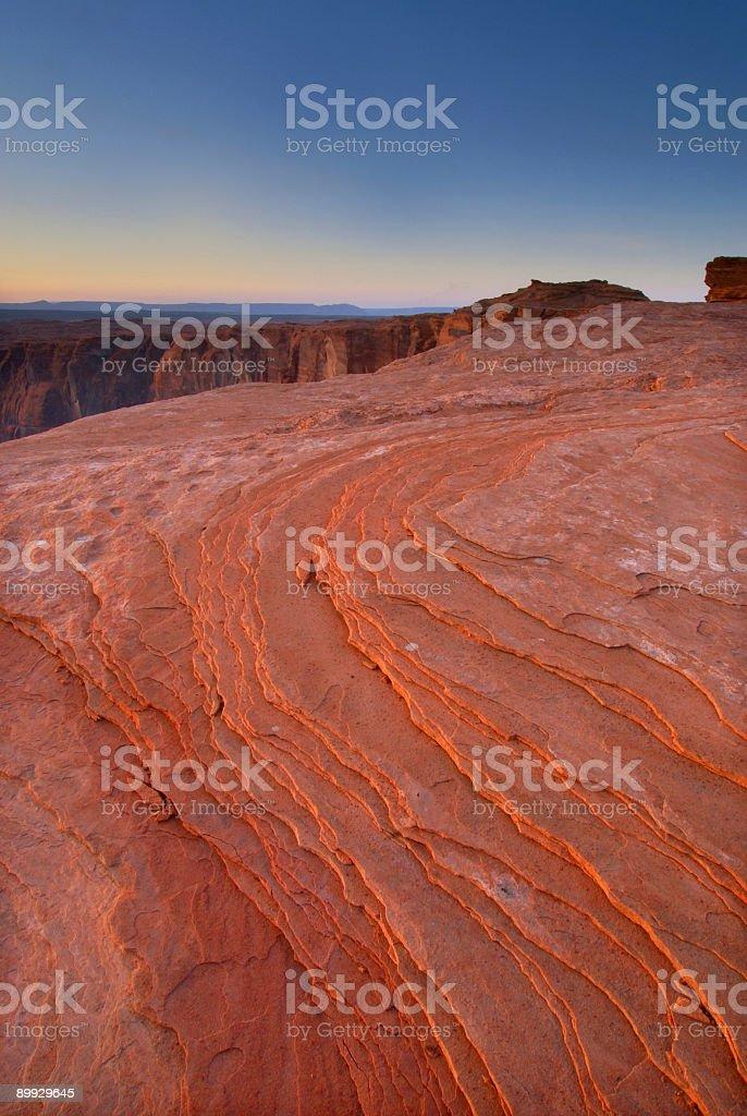 sandstone sunset royalty-free stock photo