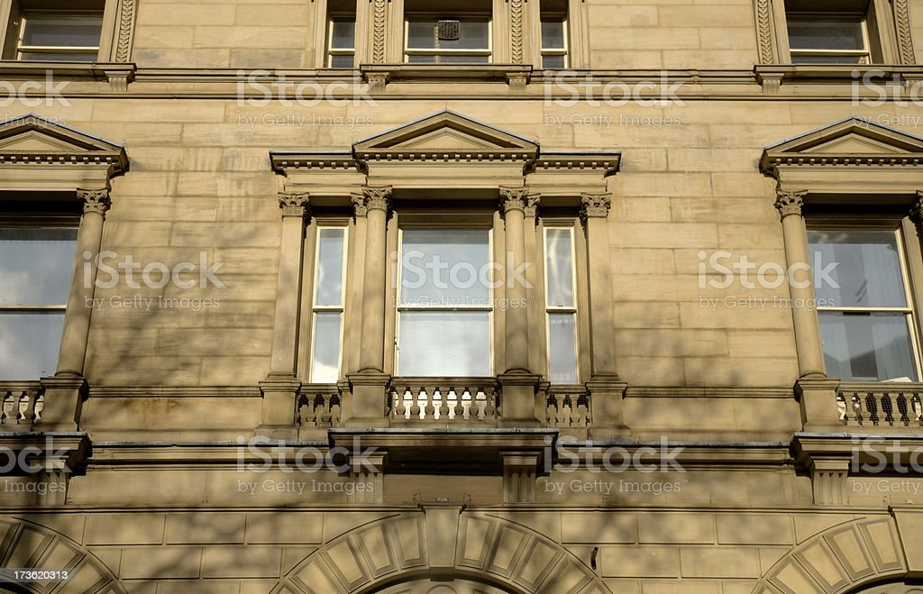 Sandstone Victorian Bank Building-Related Images Below stock photo