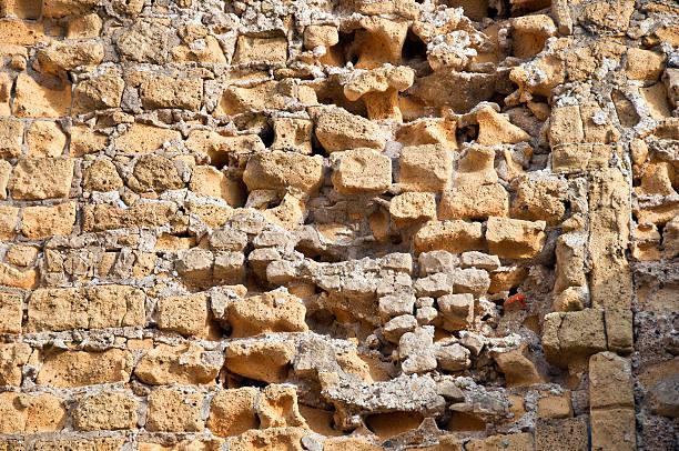 Sandstone wall stock photo