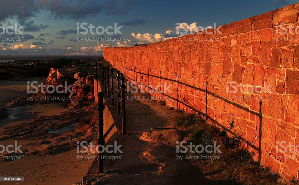 Sandstone Wall Walkway stock photo