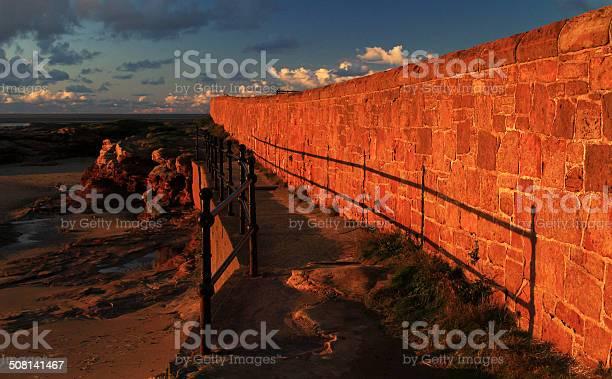 Sandstone Wall Walkway Stock Photo - Download Image Now