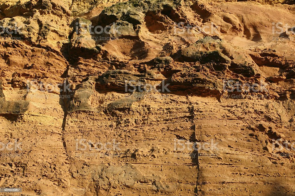 sandstone with cross bedding from sand dunes royalty-free stock photo