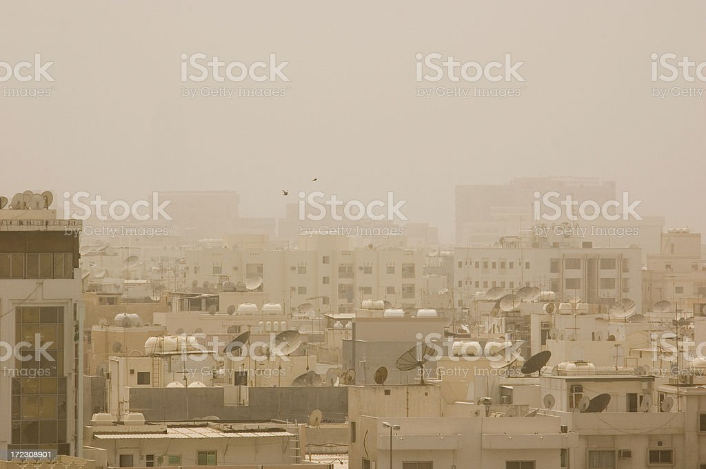 Sandstorm in Bahrain royalty-free stock photo