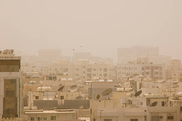 Sandstorm in Bahrain stock photo