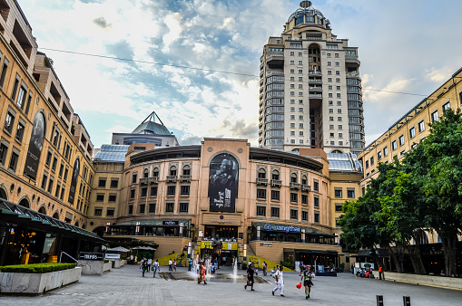 istock Sandton city mall and Nelson Mandela square with Statue of President Johannesburg South Africa 1173961911