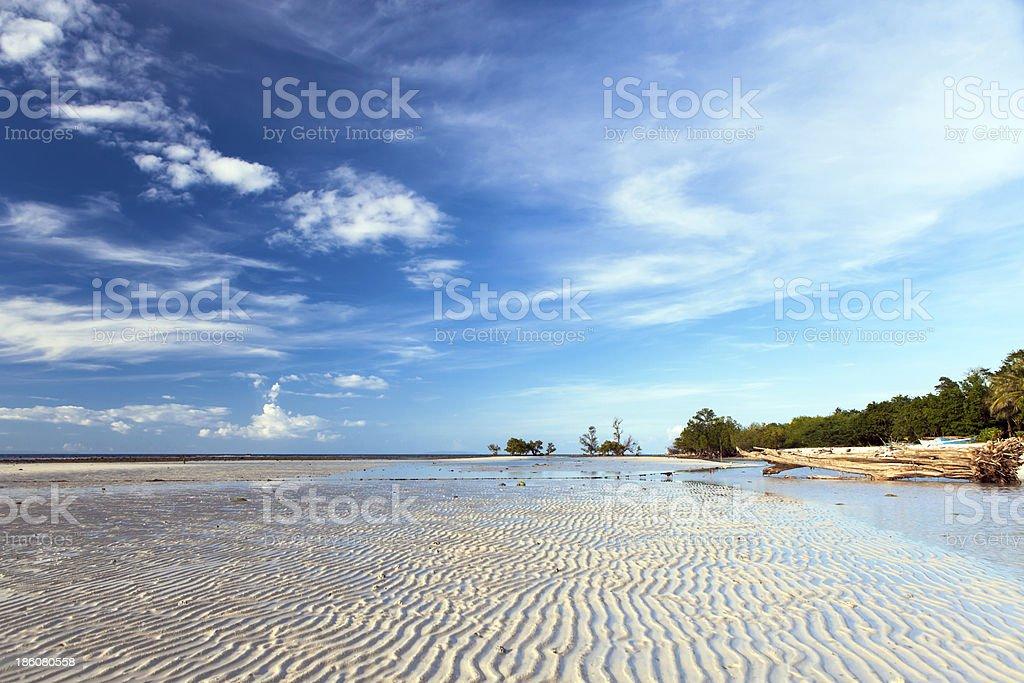 Sandugan Beach by low tide royalty-free stock photo