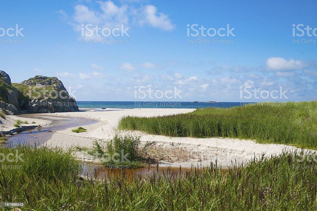 Sandvesanden beach on Karmöy in Western Norway royalty-free stock photo