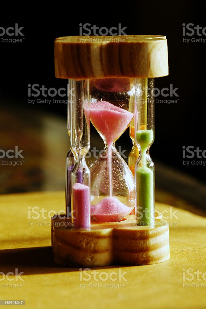 Sandwatch flowing stock photo