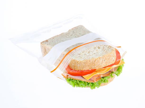 Sandwich always fresh in freezer bag stock photo