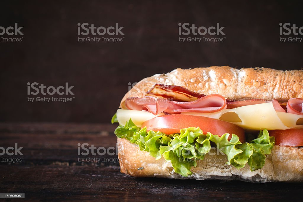 sandwich and blank space stock photo