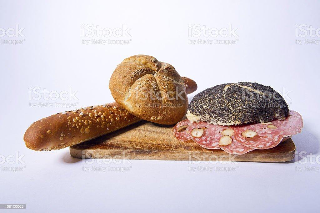 Sandwich and bread stock photo