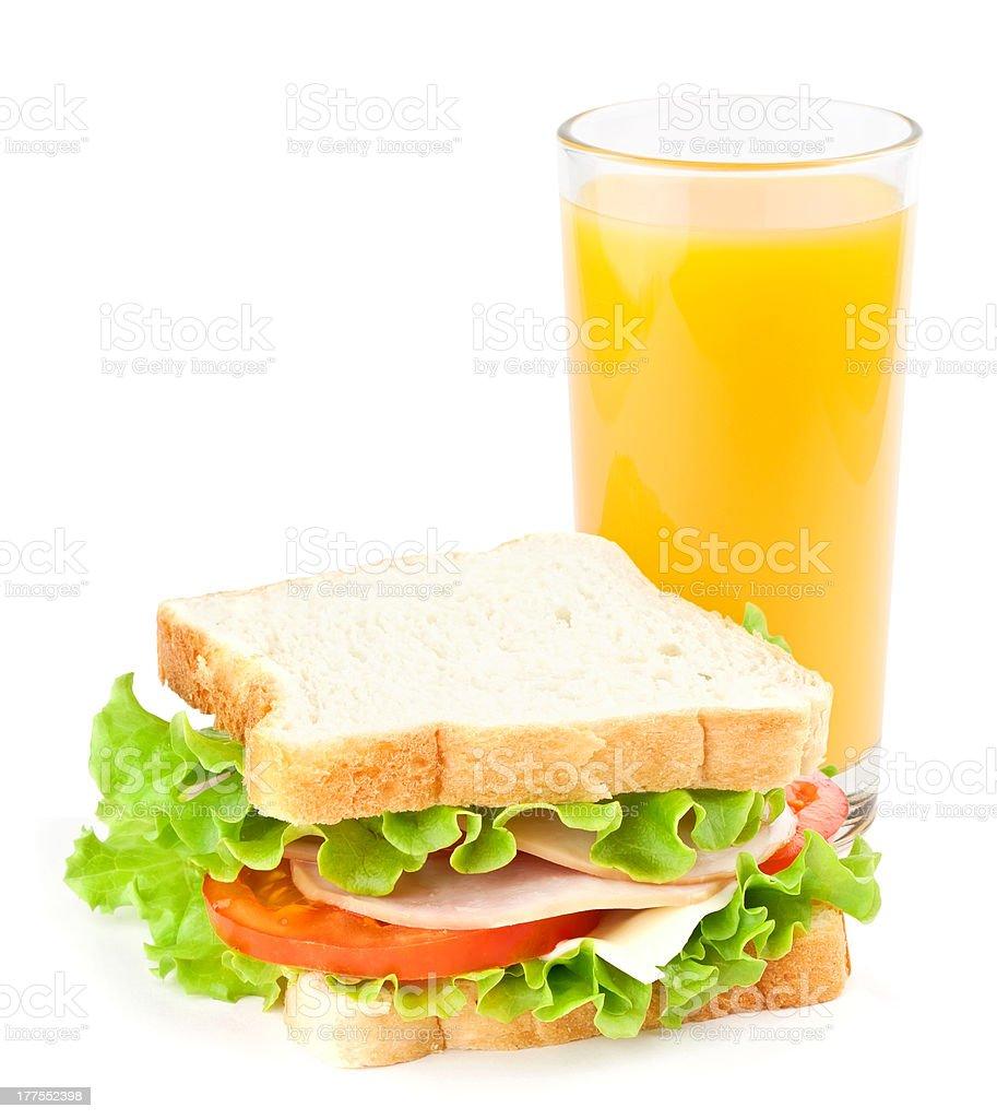 Sandwich und Saft – Foto