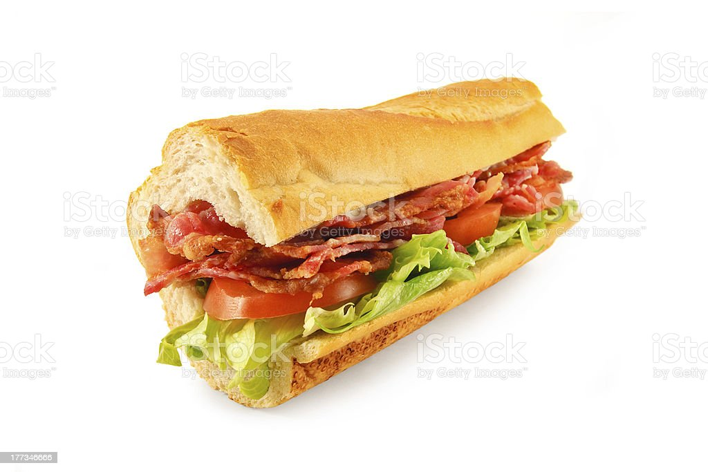 BLT Sandwich Baguette stock photo