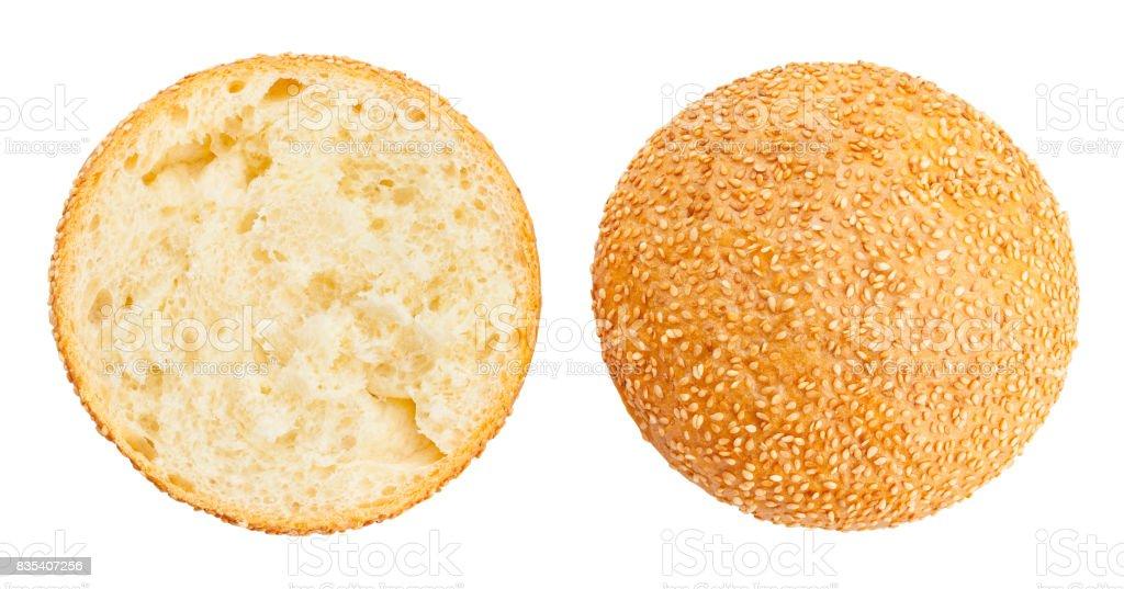 sandwich bun stock photo