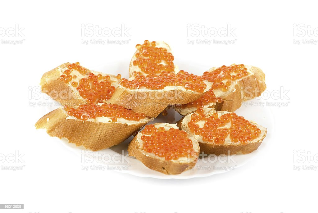 Sandwich caviar royalty-free stock photo