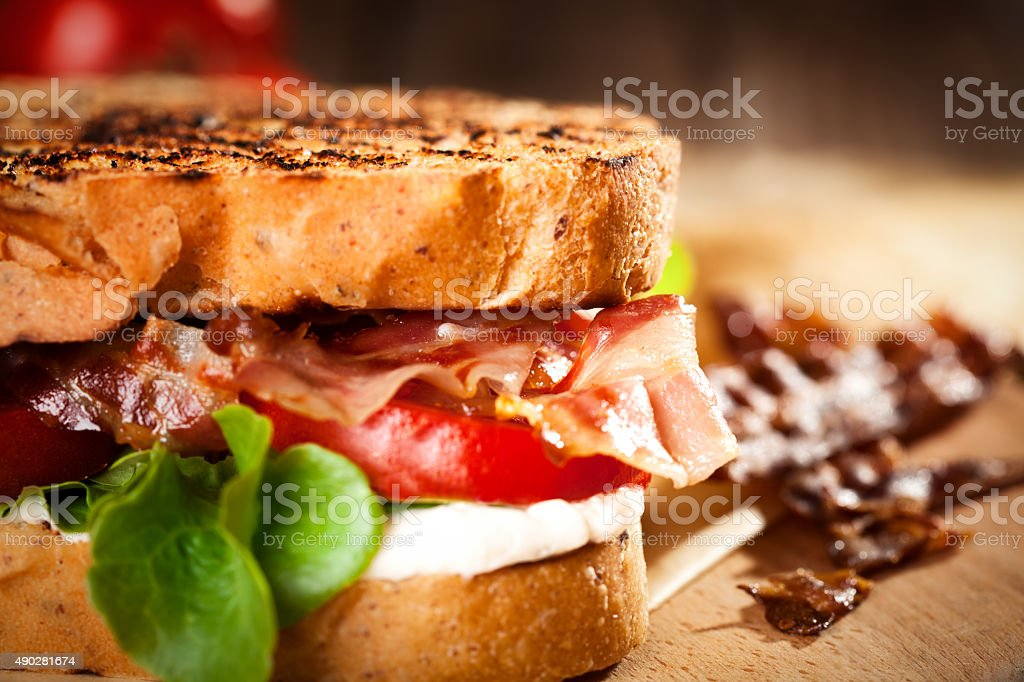 BLT Sandwich  - close up stock photo