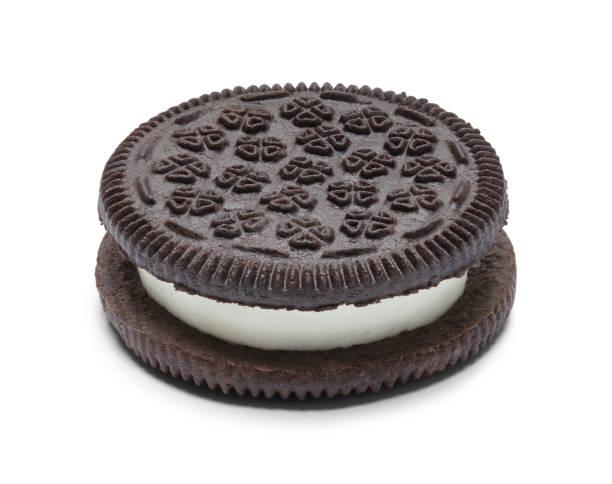 Sanduíche de biscoito - foto de acervo