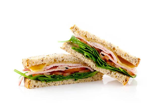 sandwich bacon, laitue et tomate détail - sandwich photos et images de collection