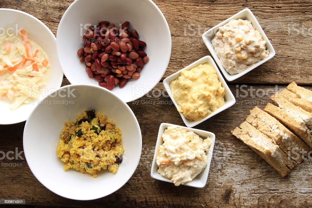 sandwich fillings and prepared ingredients royalty-free stock photo