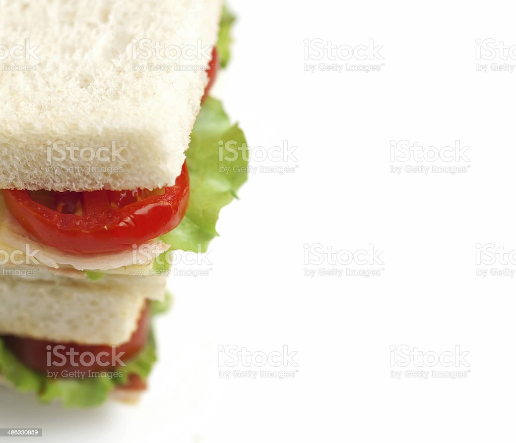 Sandwich ham and cheese royalty-free stock photo