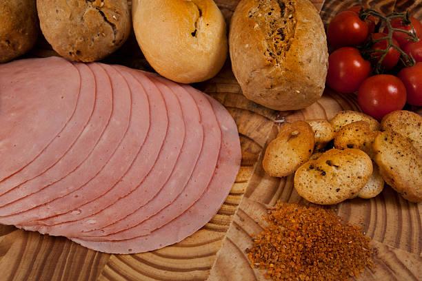 Sandwich Ham Scene stock photo