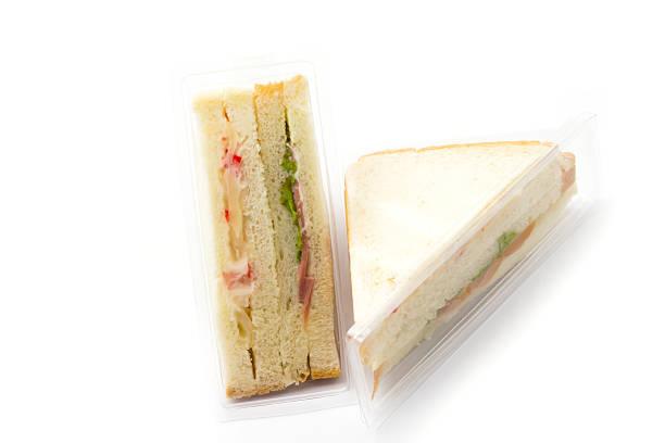 sandwich in plastic package - kinder verpackung stock-fotos und bilder