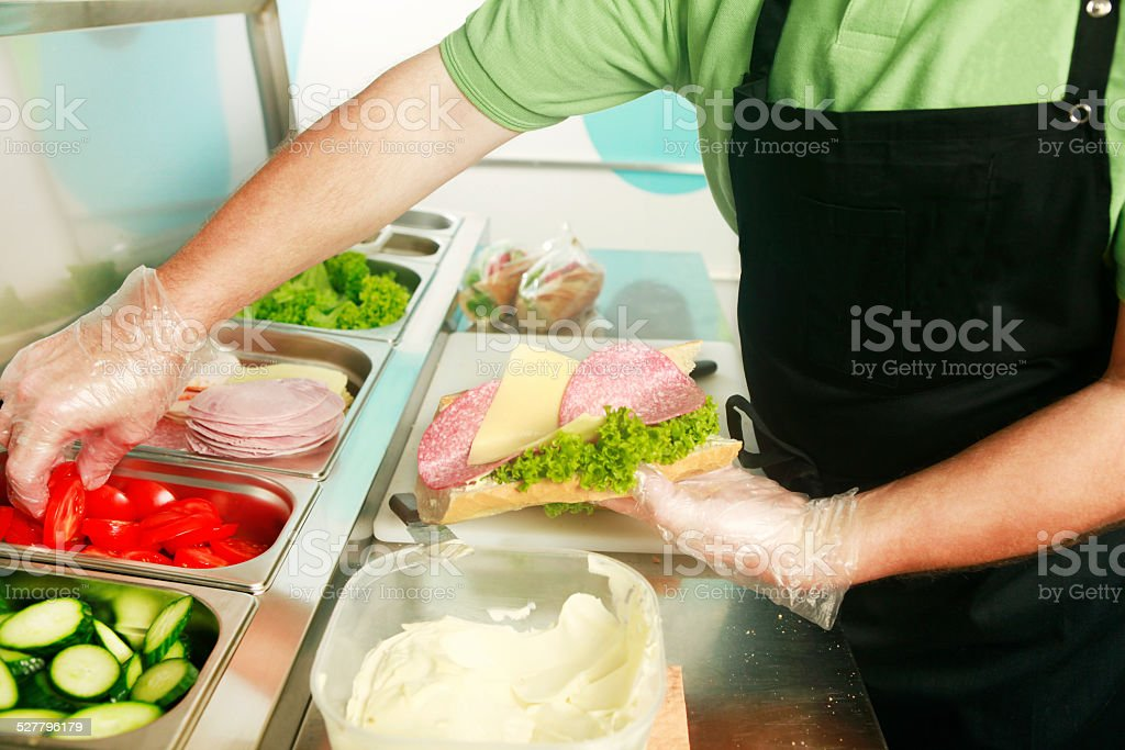 sandwich is made stock photo