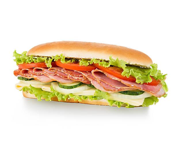 Sandwich isolated on white background stock photo