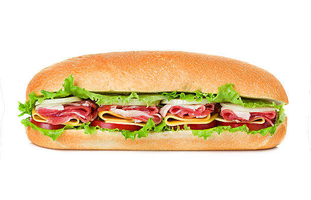 sandwich isolated on white background sandwich isolated on white background submarine sandwich stock pictures, royalty-free photos & images