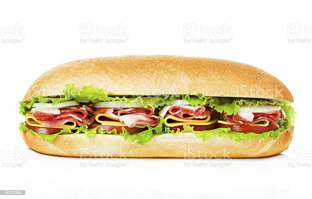 sandwich isolated stock photo