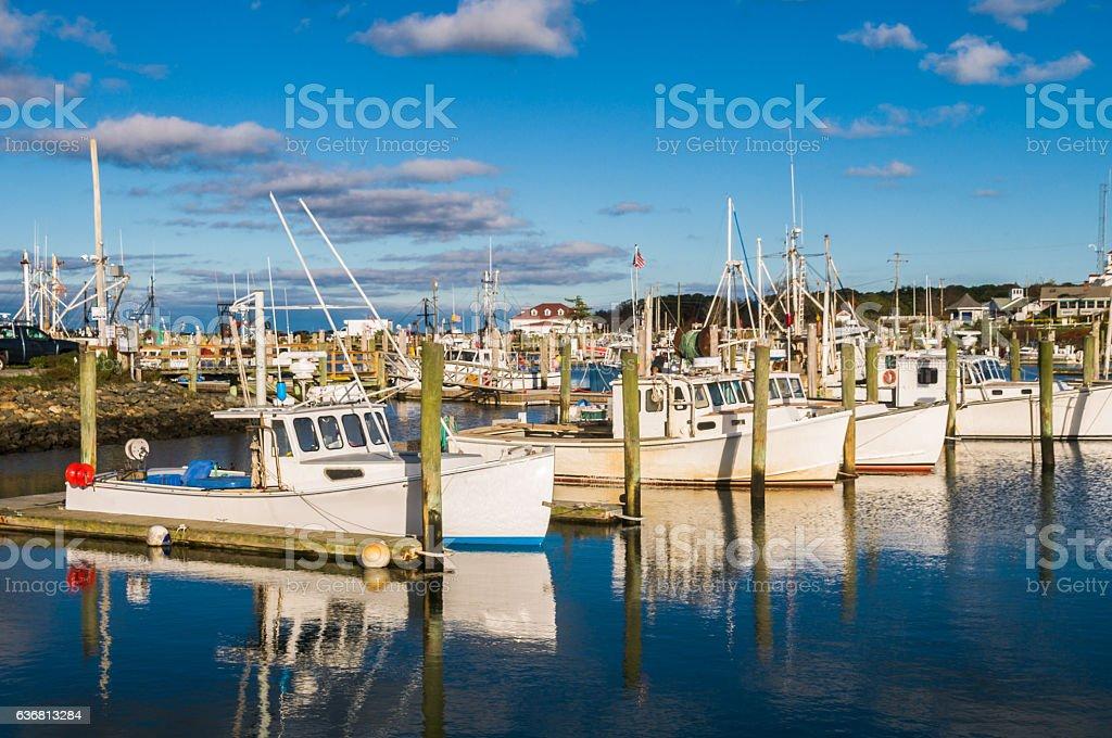 Sandwich Marina Reflections stock photo