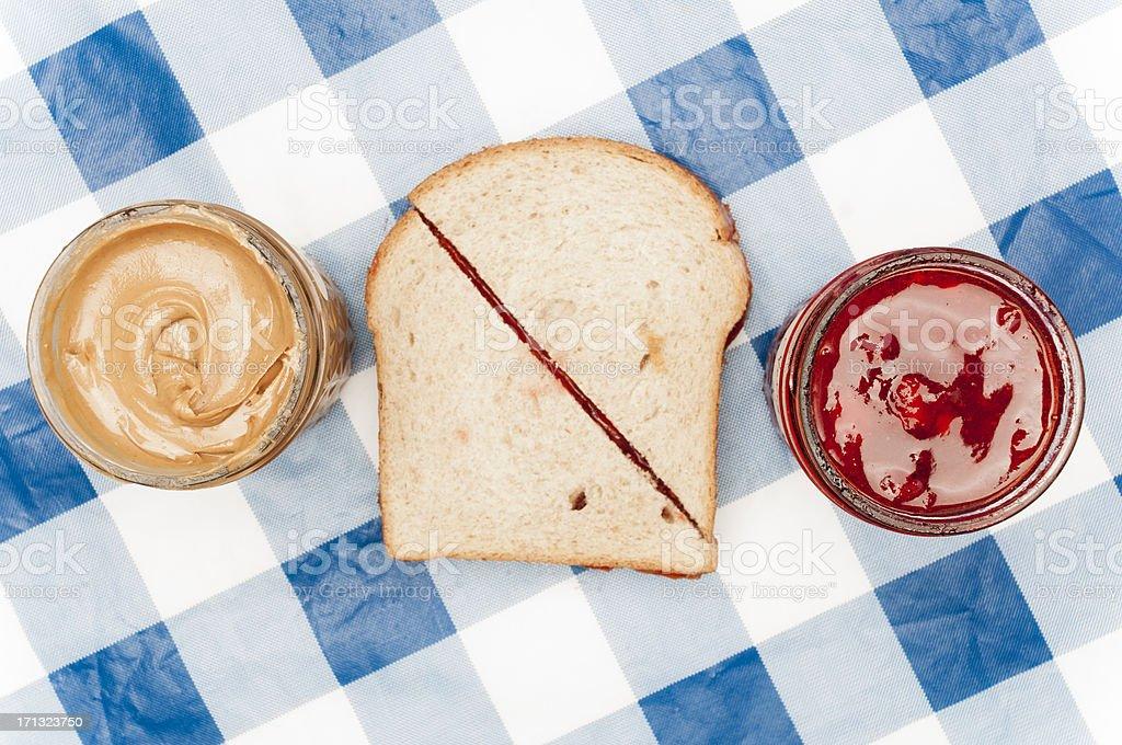 PB&J Sandwich stock photo