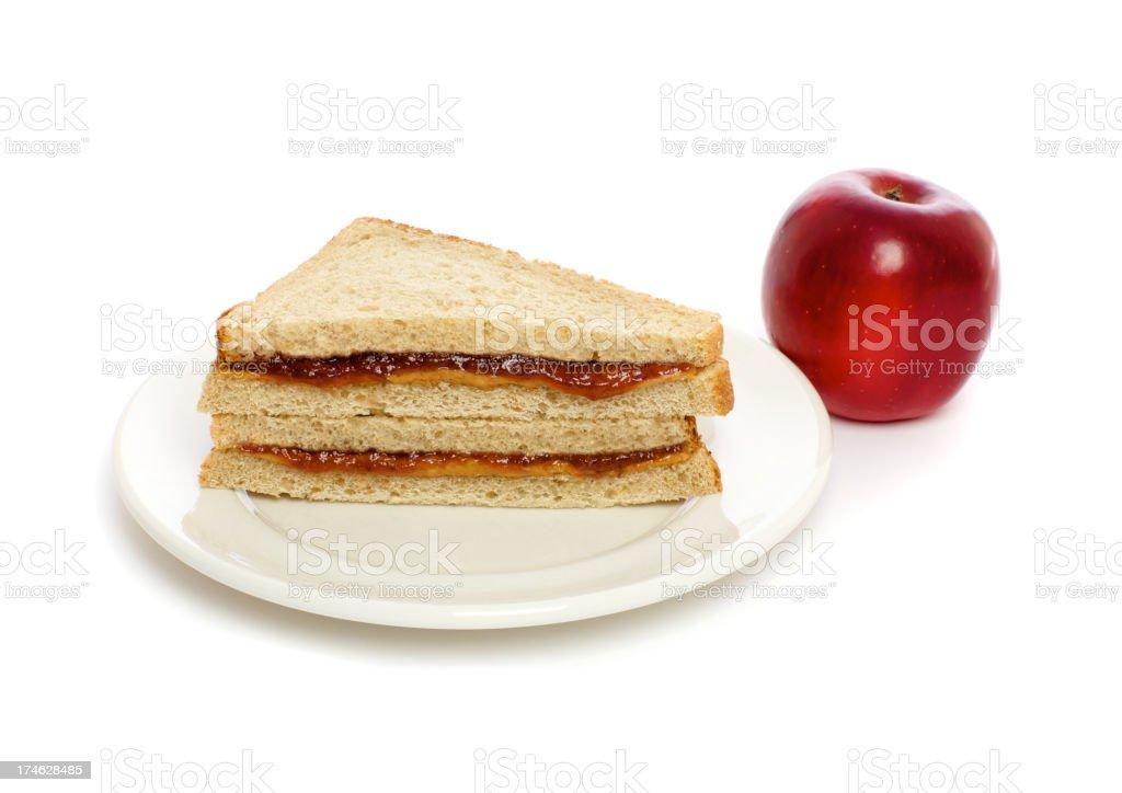 PBJ Sandwich stock photo